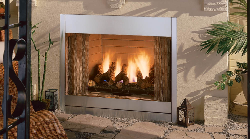 Vent Free Gas Outdoor Fireplace