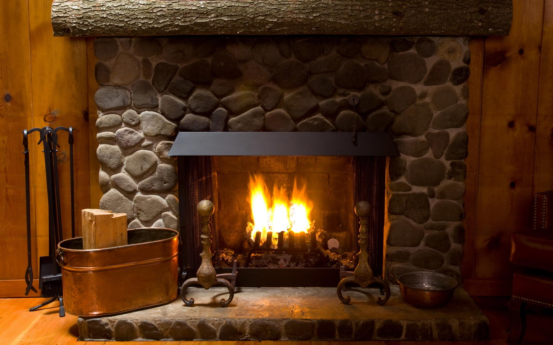update your fireplace with a new stone or brick facade