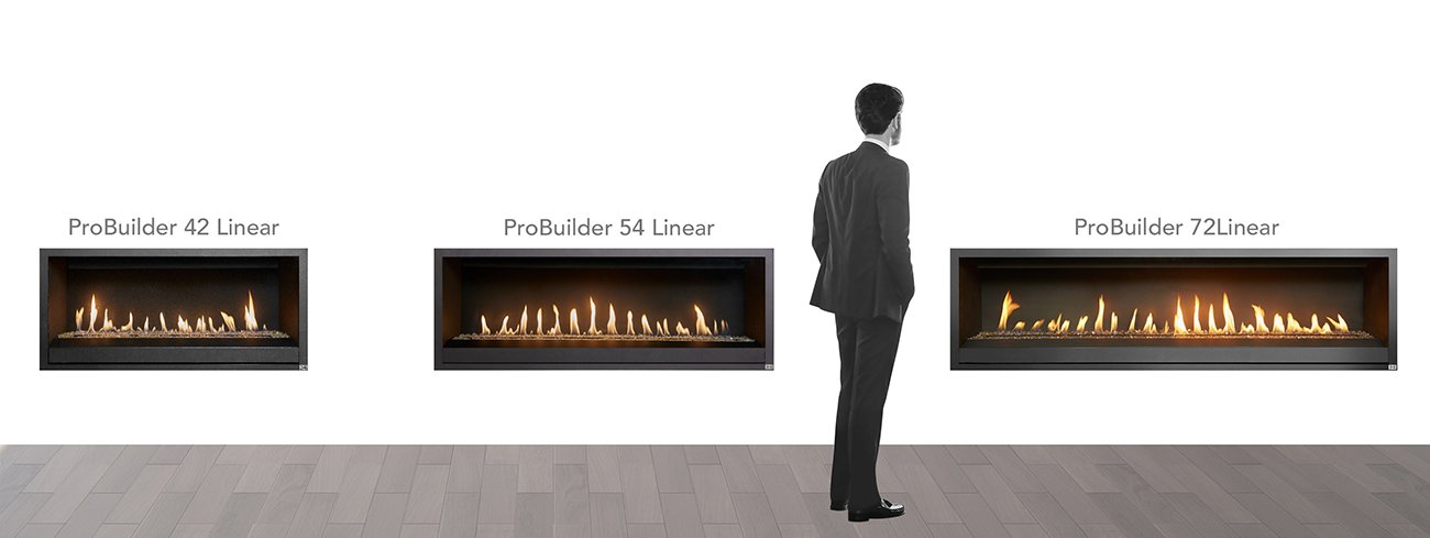 FireplaceX ProBuilder Linear Gas Fireplaces
