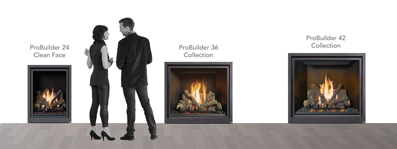 FireplaceX ProBuilder Traditional Gas Fireplaces